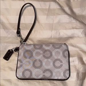 Authentic coach mini purse